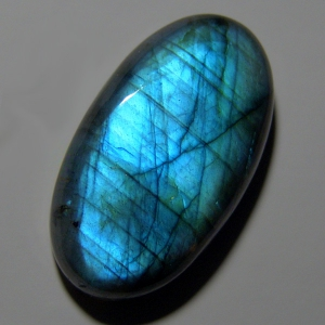 Labradorite cabochon 36*21*8mm,   66ct