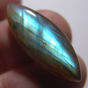 Labradorite cabochon    34*13*7 mm,  23 ct