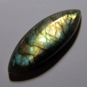 Labradorite cabochon  38*15*7 mm,   27 ct