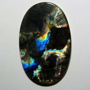 Кабошон из спектролита 52*32*4 mm,  вес 84,2 ct