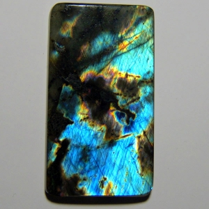 Cabochon spectrolite  43*24*4 mm,  49,8 ct