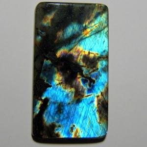 Спектолит кабошон 43*24*4 mm,  вес 49,8 ct