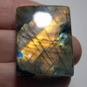 Кабошон из спектролита 37*28*6 mm,  вес 87,1 ct