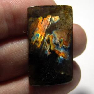 Cabochon spectrolite  36*22*4 mm,  вес 36,0 ct