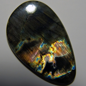Cabochon spectrolite 51*31*5 mm,   71,9 ct