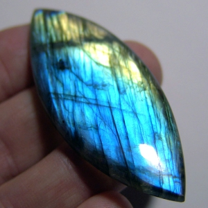 Labradorite cabochon   65*22*7 mm,   92 ct