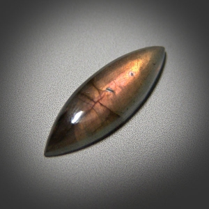 Labradorite cabochon 36*14*6 mm, 13 ct.