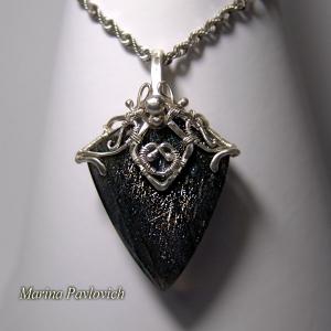Кулон серебро с лабрадоритом